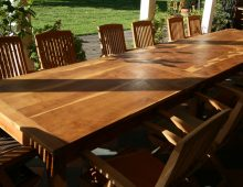 dining tables (set of three) – yew