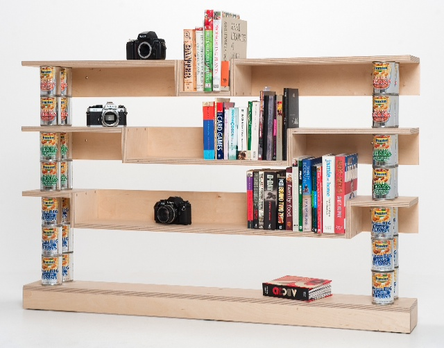 Bookcase tins
