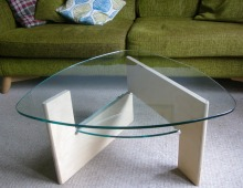 coffee table with a nod to noguchi