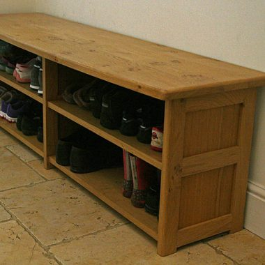 boot bench – oak