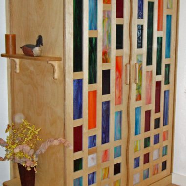cupboard – birch ply & stained glass