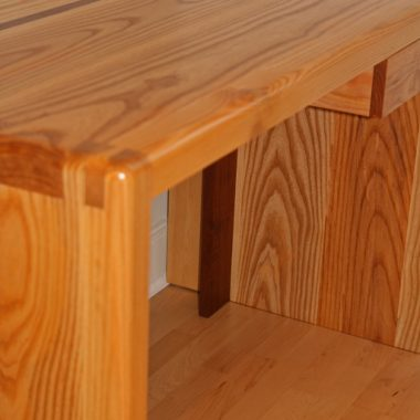 desk – ash, with walnut