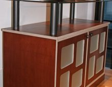 sideboard – birch ply, steel & glass