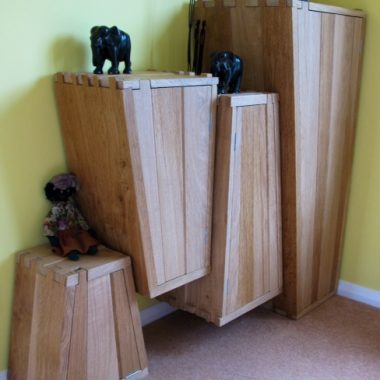 flying wedge cupboards: customer's own oak