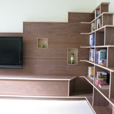 lounge unit: solid ash, walnut veneer