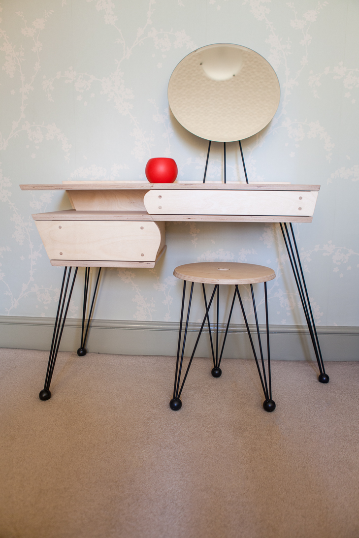 birch ply dressing table