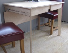 extending table on a boat at martlesham creek: birch ply