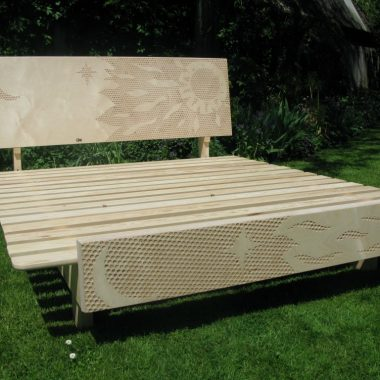 night & day bed: sandblasted birch ply with pine sub-base