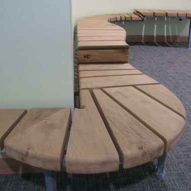 bench for family area in medical centre