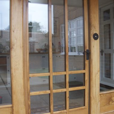 double-glazed oak front door
