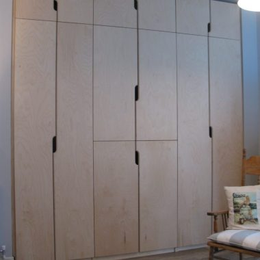 ply wardrobes with quirky cut-out handles