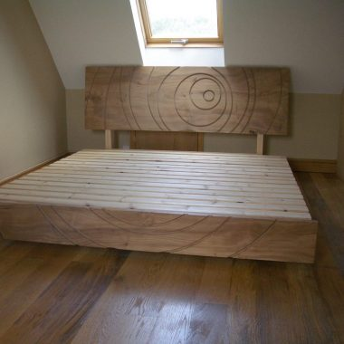 solid elm floating bed