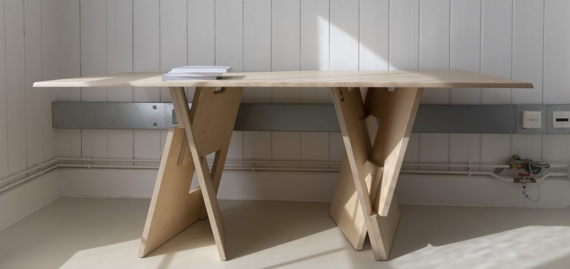 birch ply trestle table