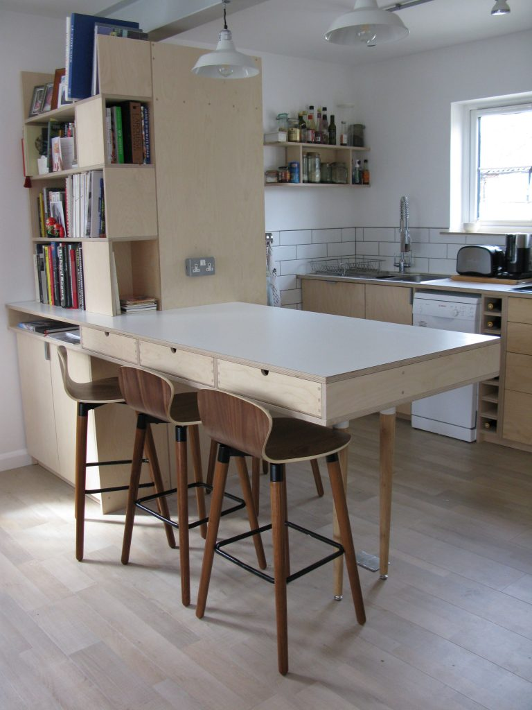 kitchen birch ply formica