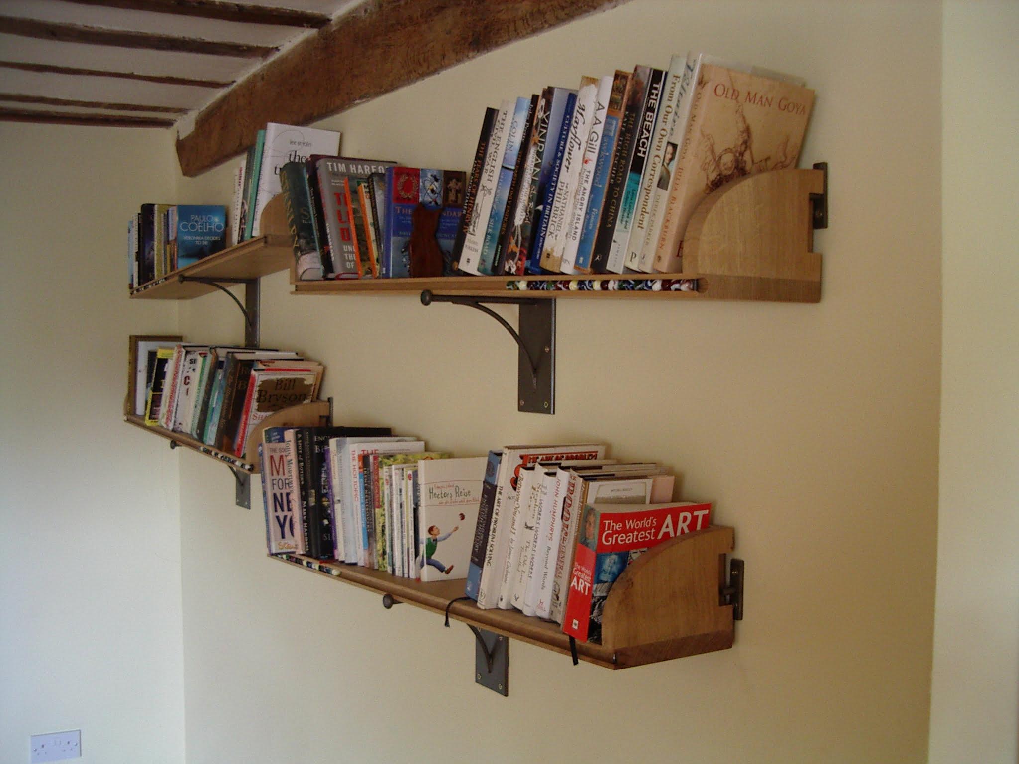 see-saw oak bookshelf