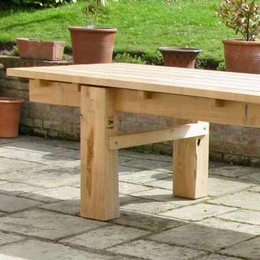 enormous 16′ sweet chestnut garden table