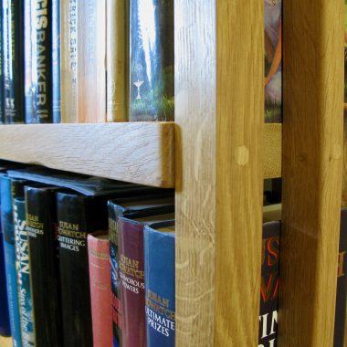 bookcase in sustainable, solid, local english oak (with a nod to josef hoffmann)