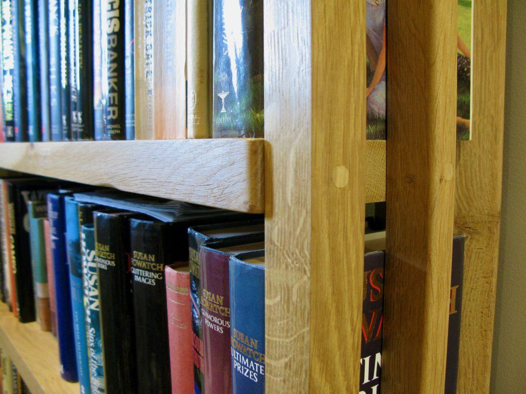 solid english oak bookcase