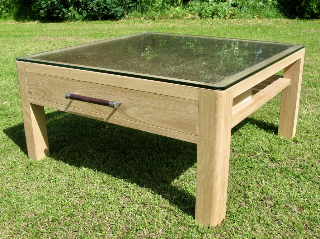 solid english oak coffee table