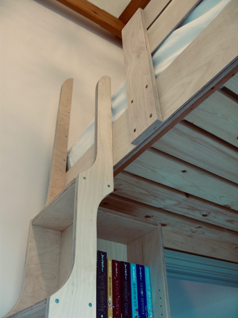 cabin bed birch ply