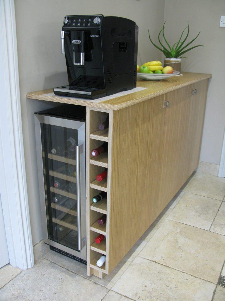 oak veneered birch ply kitchen unit