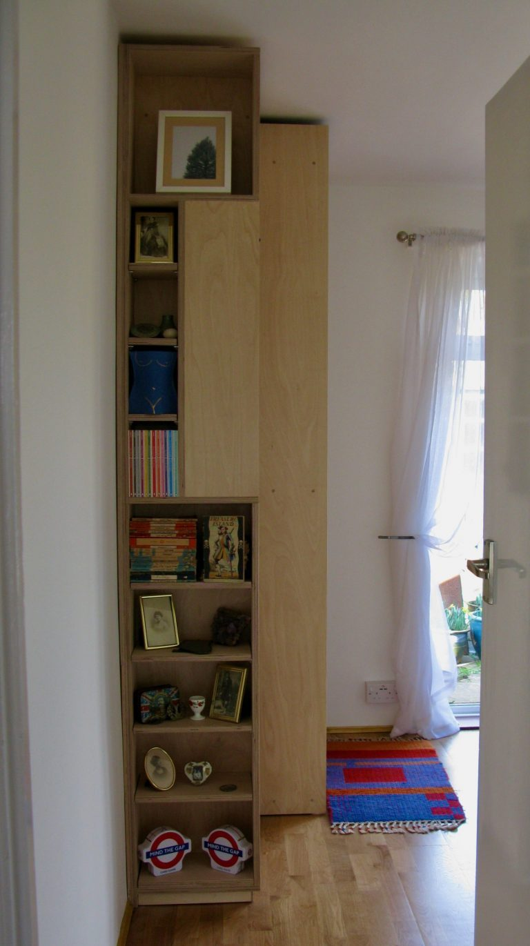 wardrobes, cupboards and shelves in birch ply