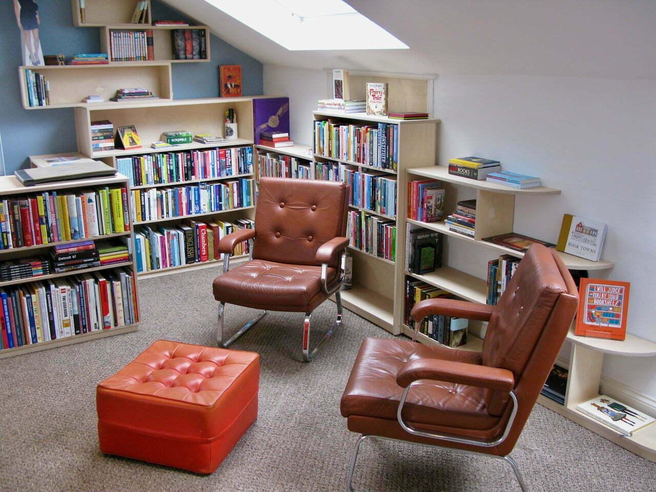 bookcase bannister birch ply