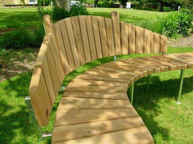 bench oak steel