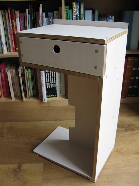 bedside table birch ply