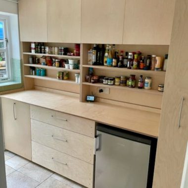 pantry units in birch ply